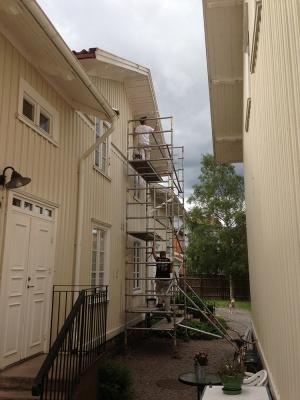 Ommålning Kv. Flädern åt Vänersborgs Kommun